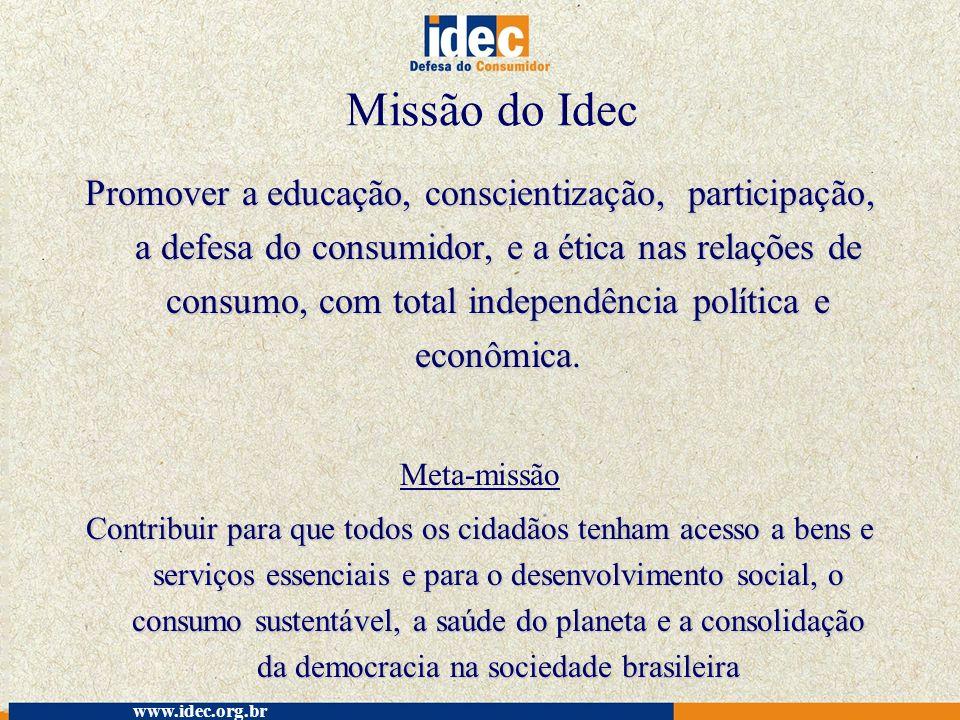 Missão do Idec
