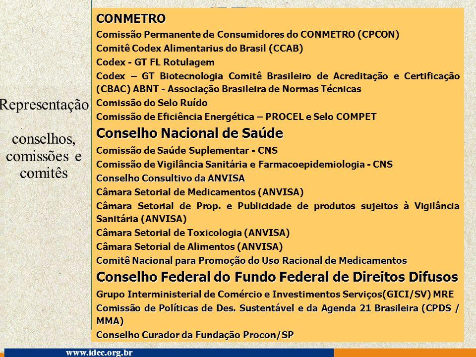 Representação conselhos, comissões e comitês