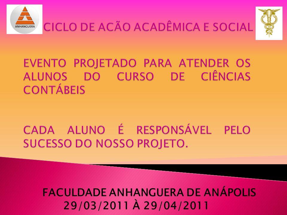 CICLO DE ACÃO ACADÊMICA E SOCIAL