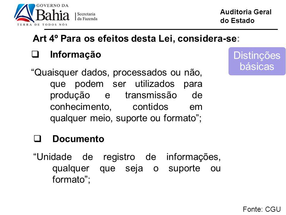 Art 4º Para os efeitos desta Lei, considera-se: