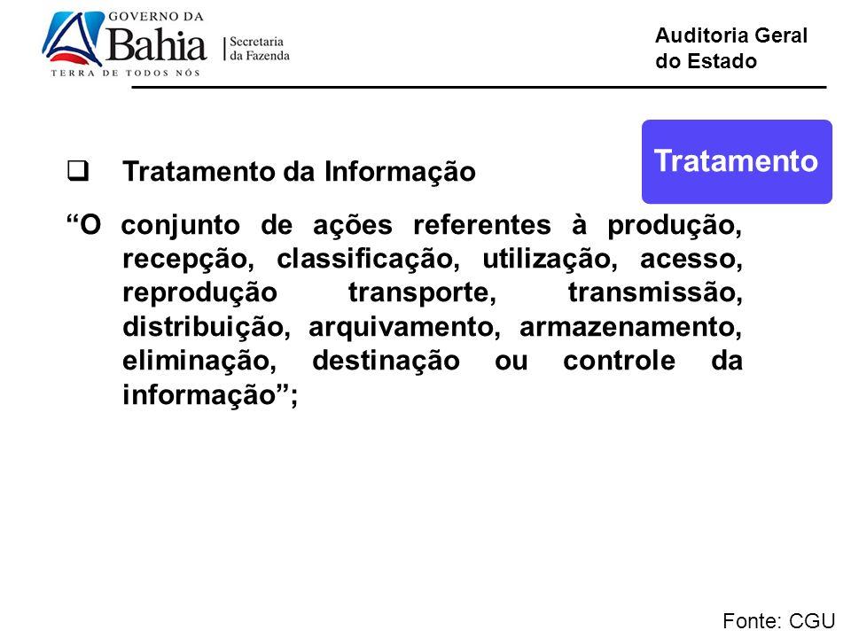 Tratamento Tratamento da Informação