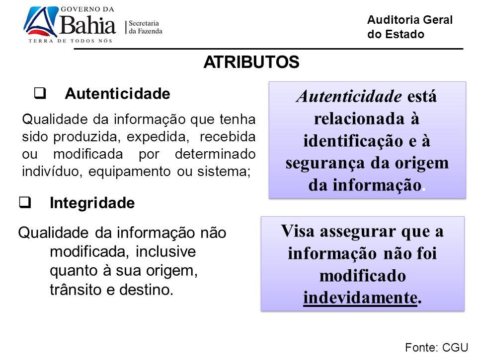 Visa assegurar que a informação não foi modificado indevidamente.