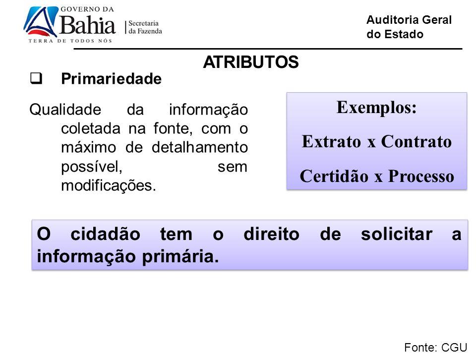 Exemplos: Extrato x Contrato Certidão x Processo