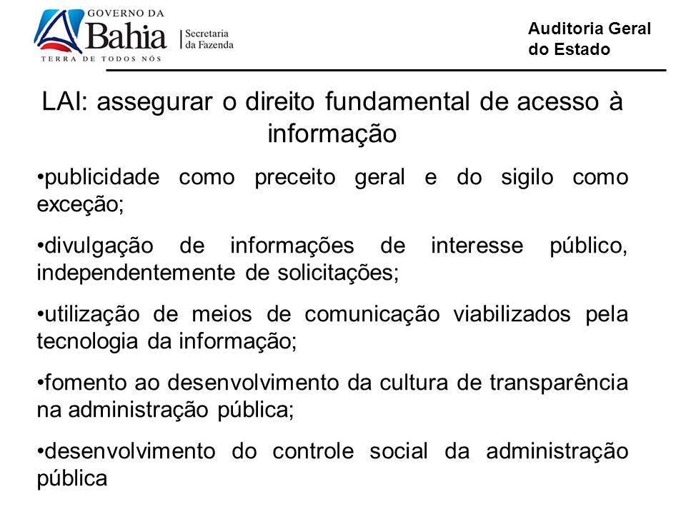 LAI: assegurar o direito fundamental de acesso à informação