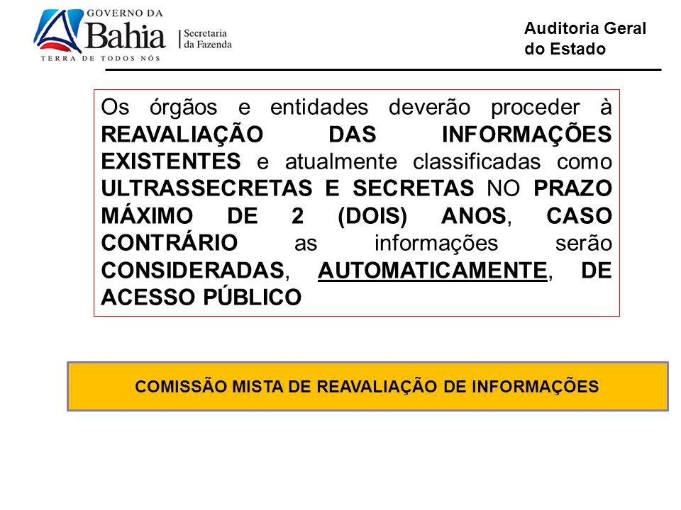COMISSÃO MISTA DE REAVALIAÇÃO DE INFORMAÇÕES