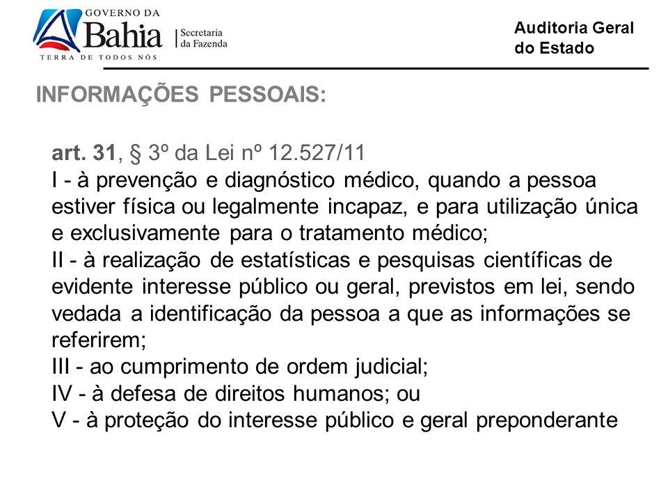 INFORMAÇÕES PESSOAIS:
