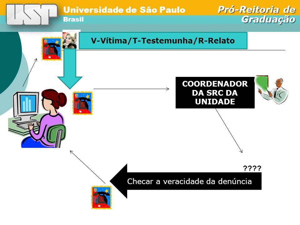 V-Vítima/T-Testemunha/R-Relato COORDENADOR DA SRC DA UNIDADE