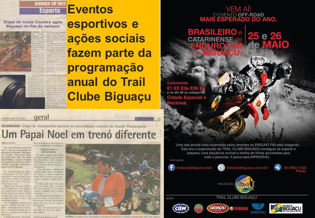 Eventos esportivos e ações sociais fazem parte da programação anual do Trail Clube Biguaçu