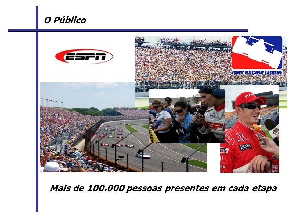 O Público Mais de 100.000 pessoas presentes em cada etapa