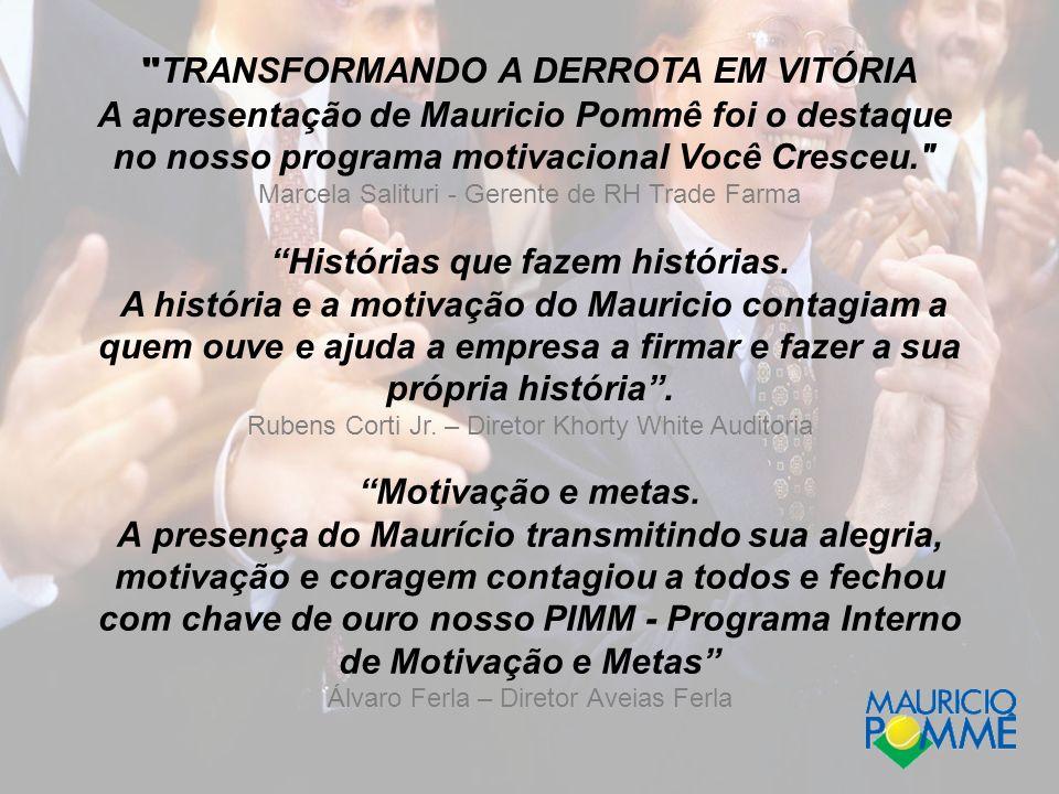 TRANSFORMANDO A DERROTA EM VITÓRIA
