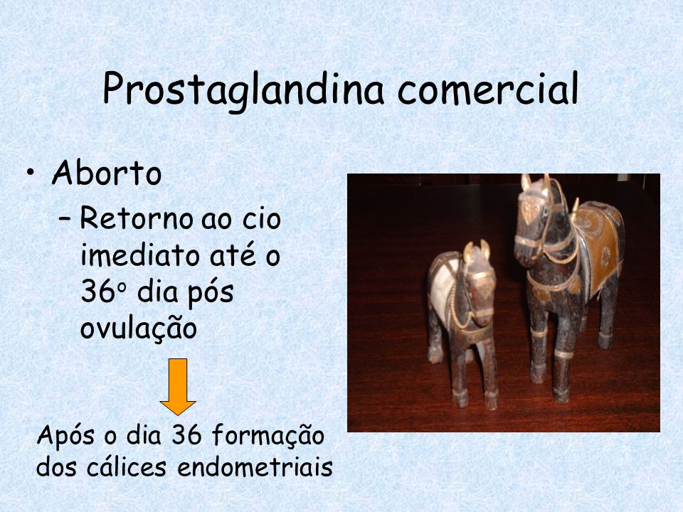 Prostaglandina comercial
