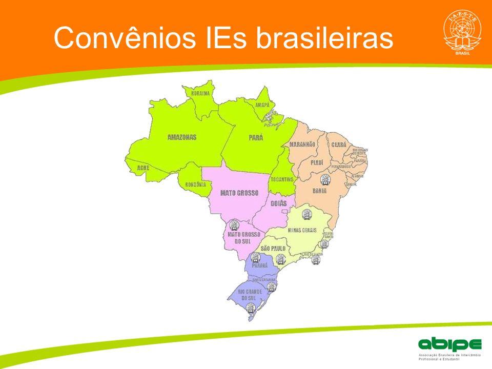 Convênios IEs brasileiras
