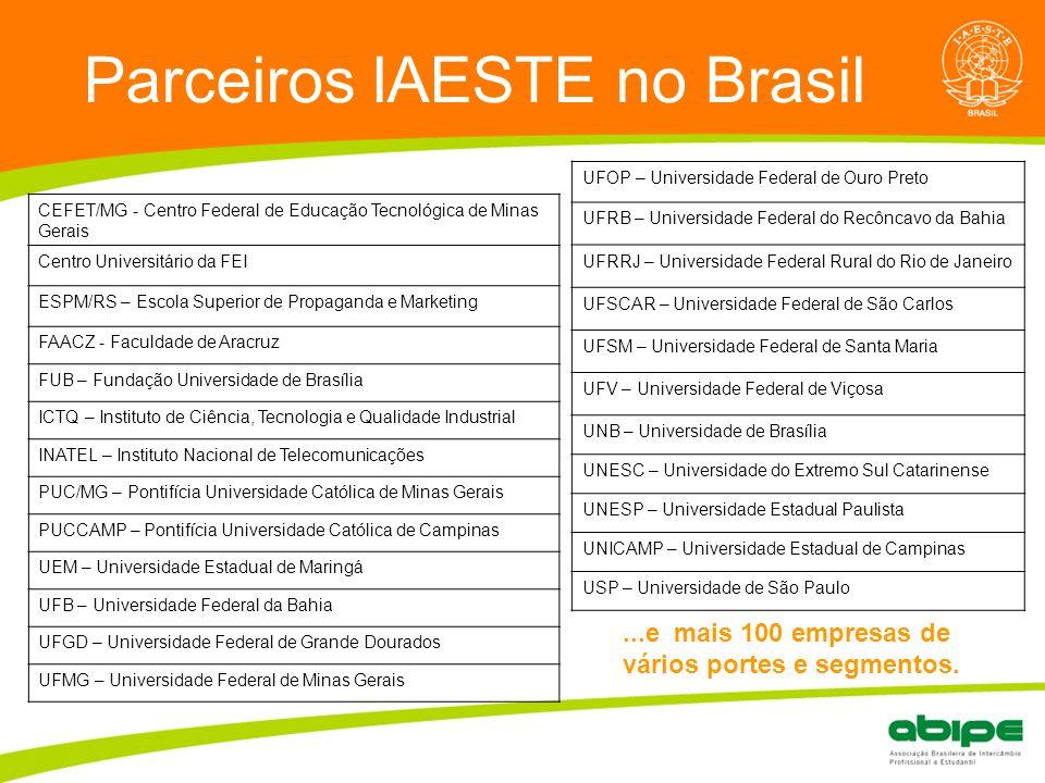 Parceiros IAESTE no Brasil