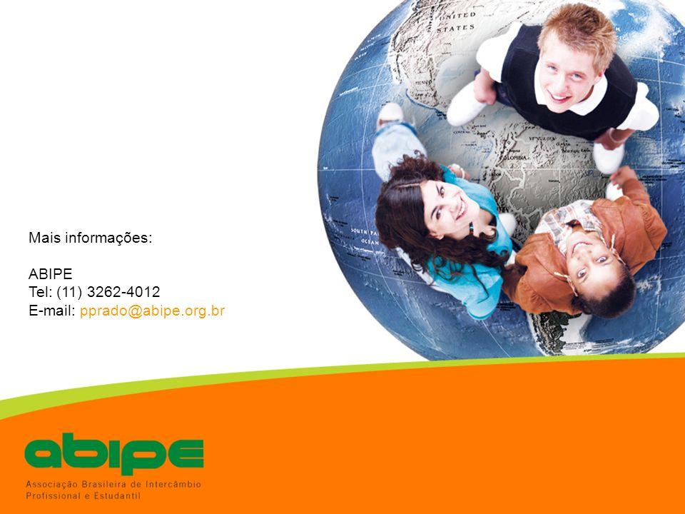 Mais informações: ABIPE Tel: (11) 3262-4012 E-mail: pprado@abipe.org.br