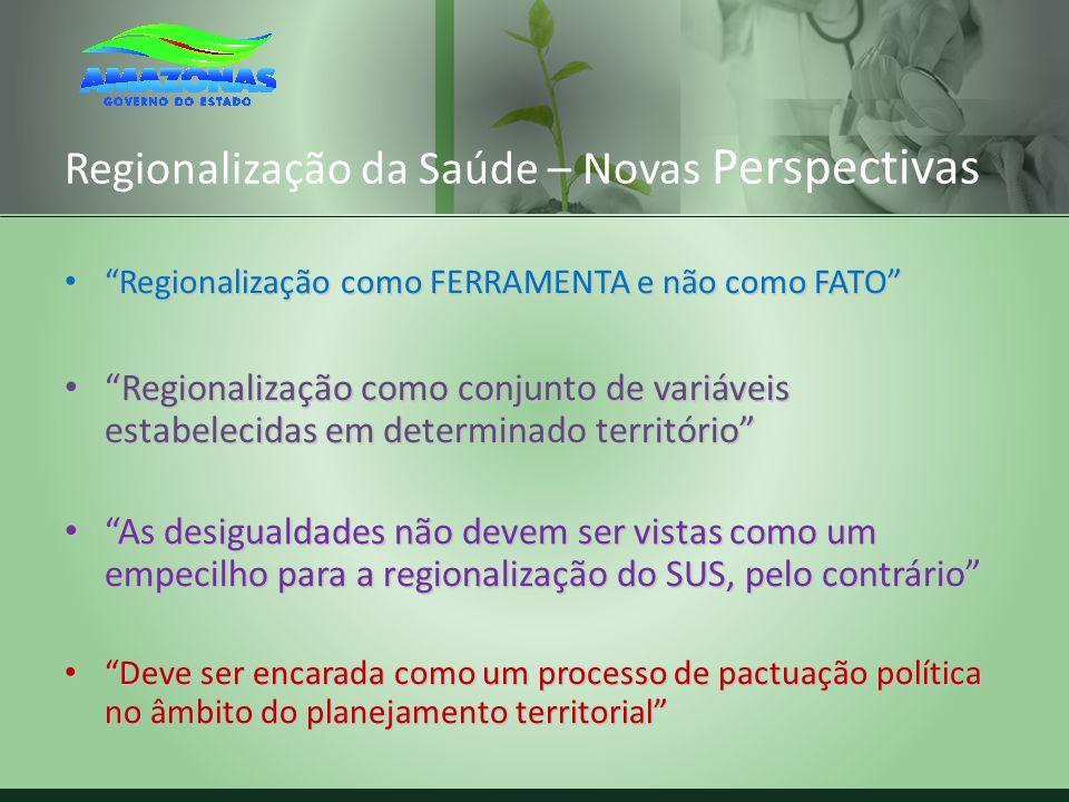 Regionalização da Saúde – Novas Perspectivas