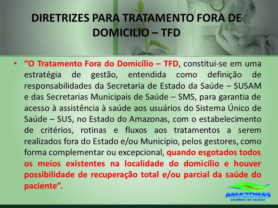 DIRETRIZES PARA TRATAMENTO FORA DE DOMICILIO – TFD
