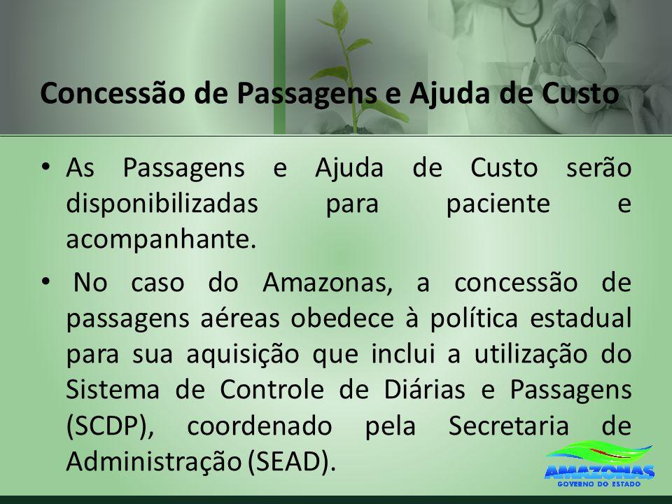 Concessão de Passagens e Ajuda de Custo