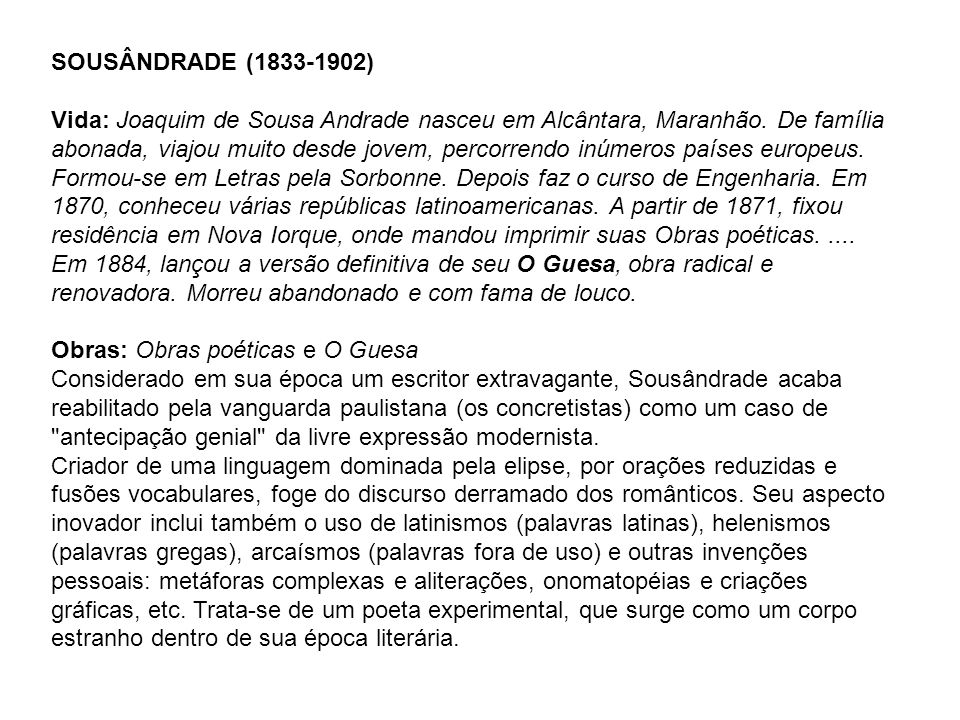 SOUSÂNDRADE (1833-1902)