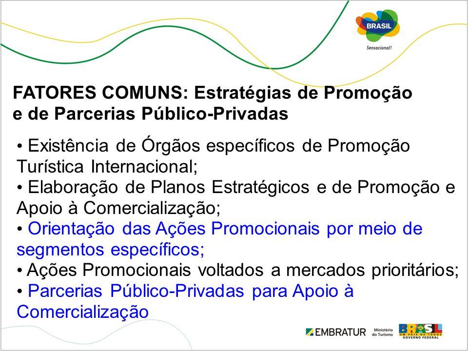 FATORES COMUNS: Estratégias de Promoção e de Parcerias Público-Privadas