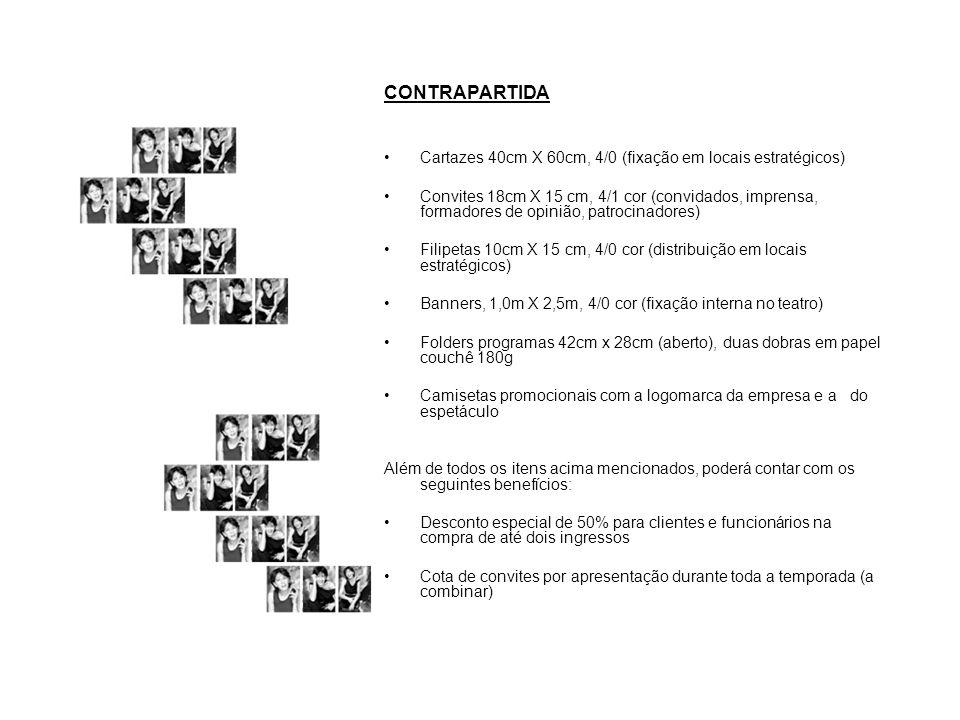 CONTRAPARTIDA Cartazes 40cm X 60cm, 4/0 (fixação em locais estratégicos)