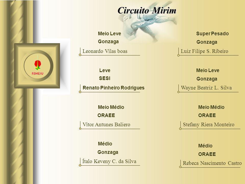 Circuito Mirim Leonardo Vilas boas Luiz Filipe S. Ribeiro