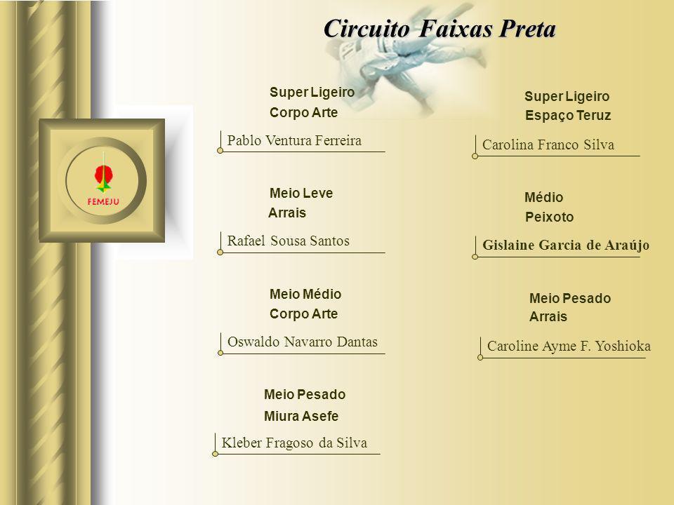 Circuito Faixas Preta Pablo Ventura Ferreira Carolina Franco Silva
