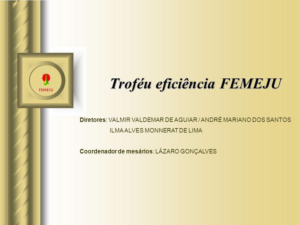 Troféu eficiência FEMEJU