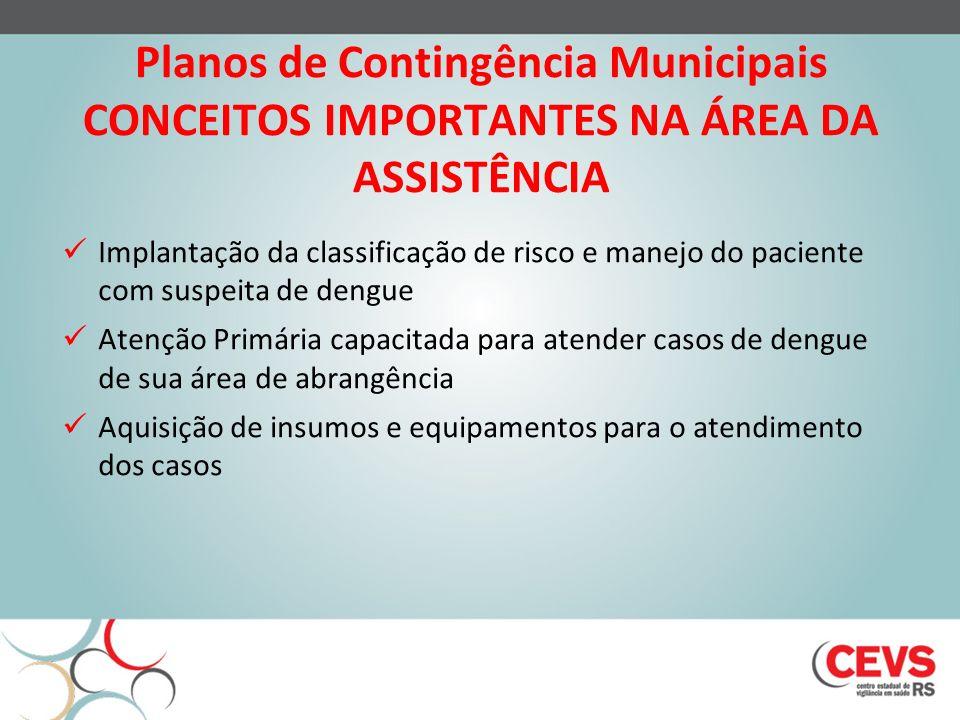 Planos de Contingência Municipais CONCEITOS IMPORTANTES NA ÁREA DA ASSISTÊNCIA