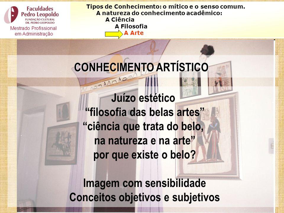 CONHECIMENTO ARTÍSTICO