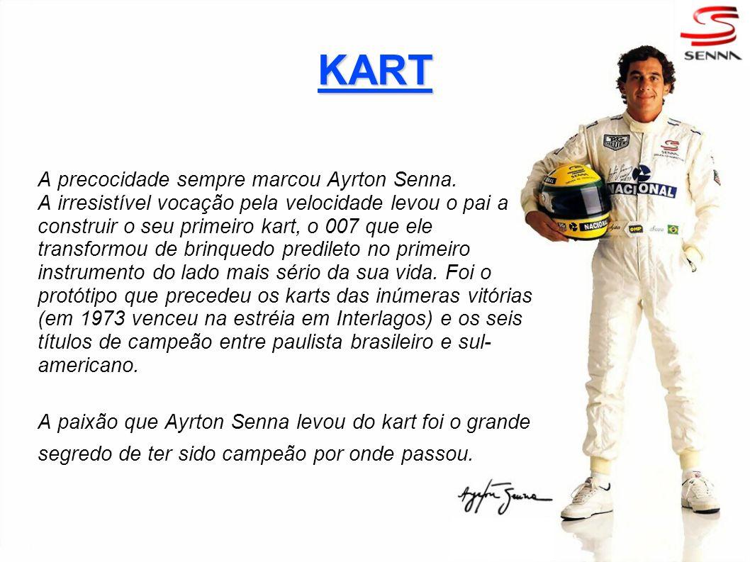KART A precocidade sempre marcou Ayrton Senna.