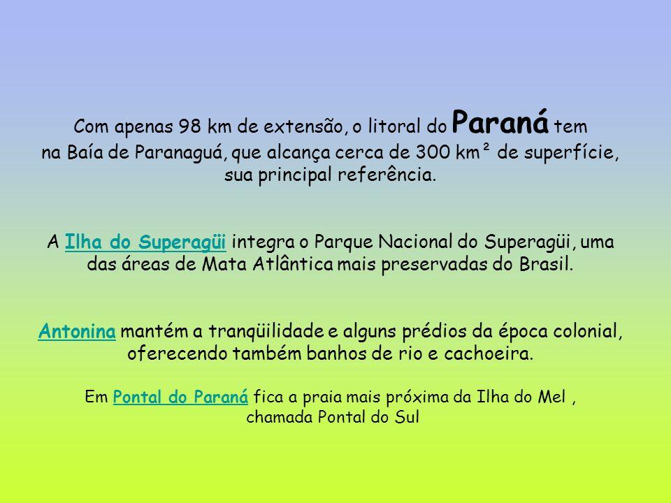 Com apenas 98 km de extensão, o litoral do Paraná tem