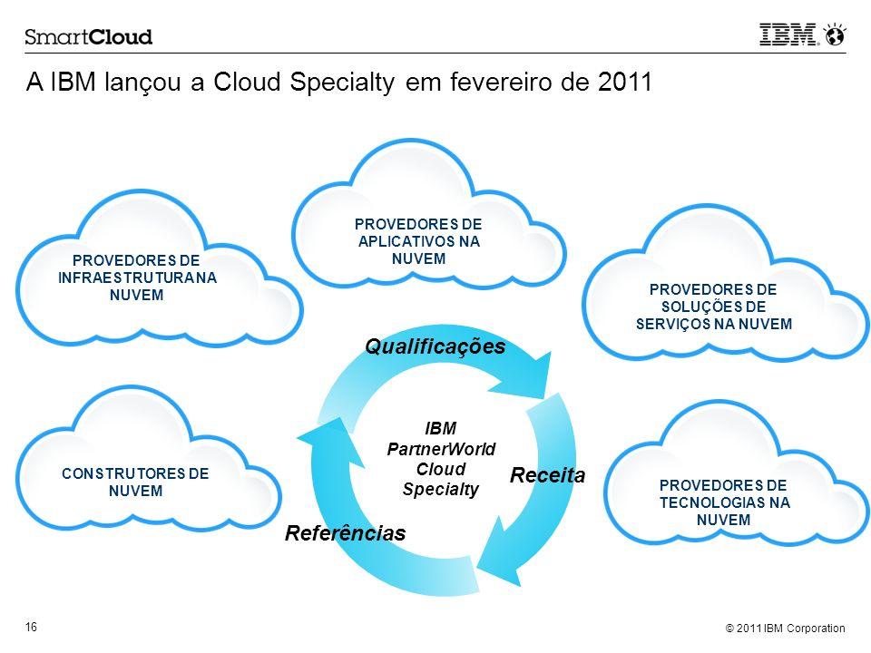 A IBM lançou a Cloud Specialty em fevereiro de 2011