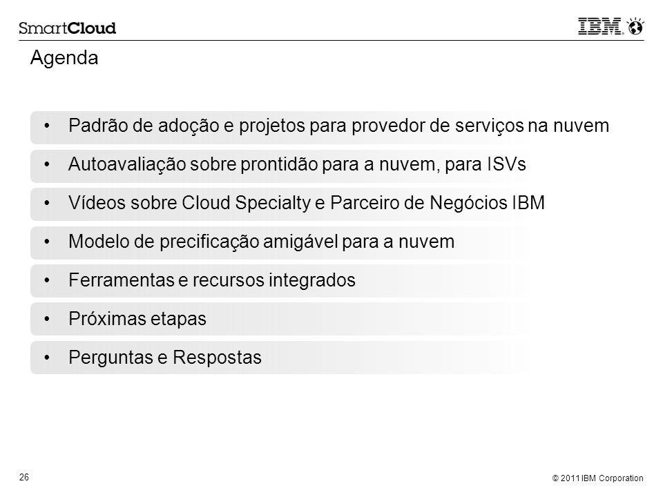 Agenda Padrão de adoção e projetos para provedor de serviços na nuvem