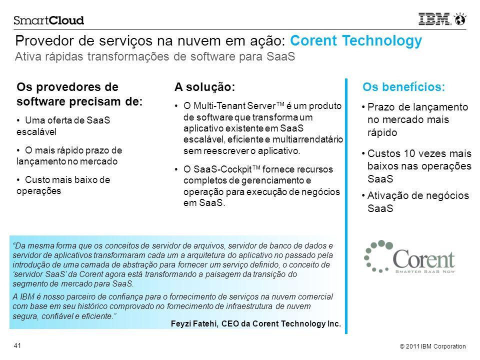 Provedor de serviços na nuvem em ação: Corent Technology Ativa rápidas transformações de software para SaaS
