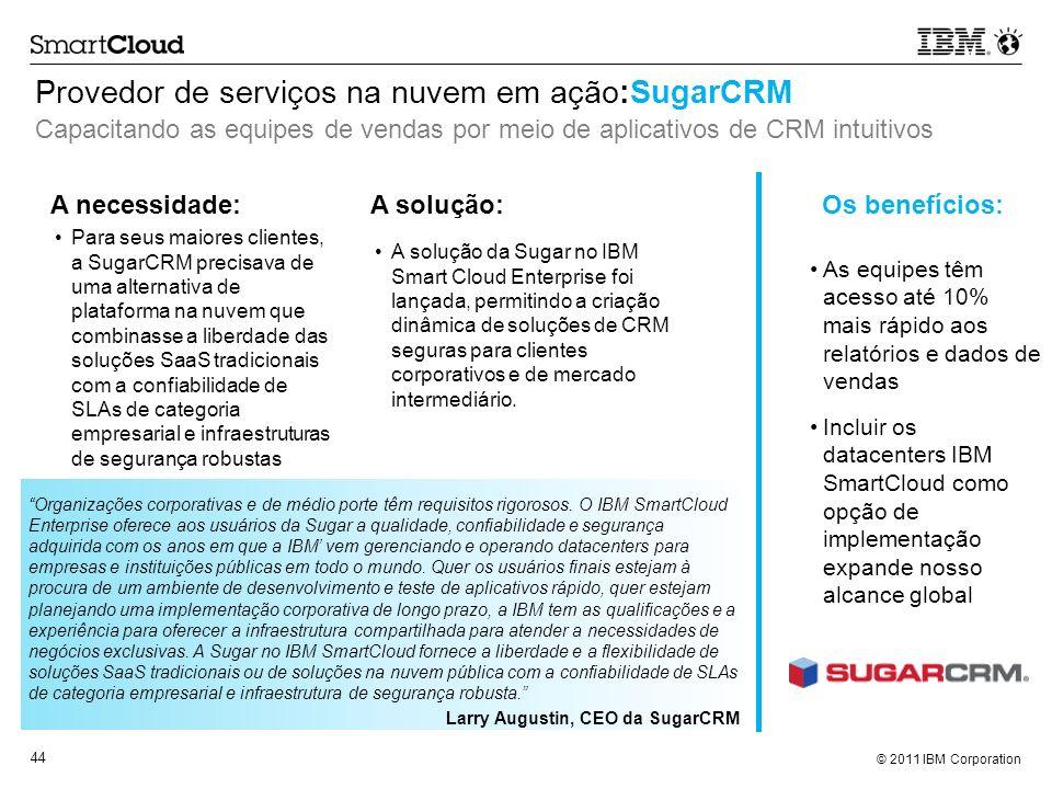 Provedor de serviços na nuvem em ação:SugarCRM