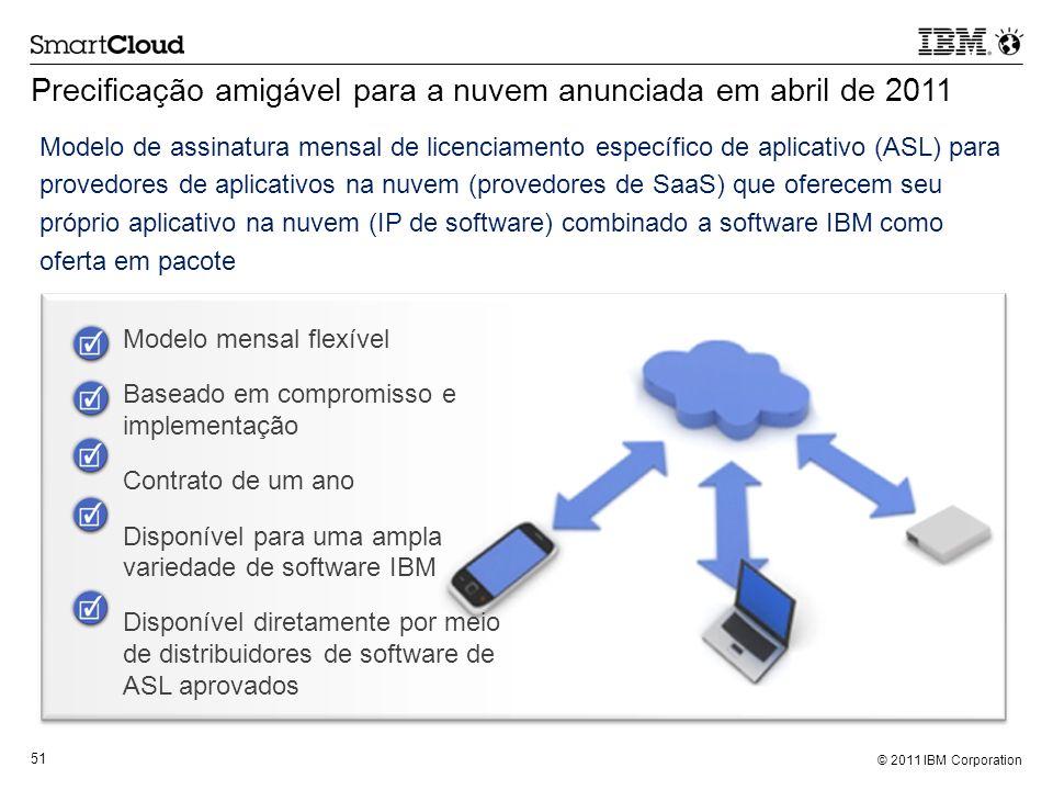 Precificação amigável para a nuvem anunciada em abril de 2011
