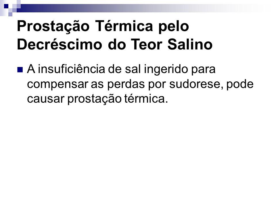 Prostação Térmica pelo Decréscimo do Teor Salino