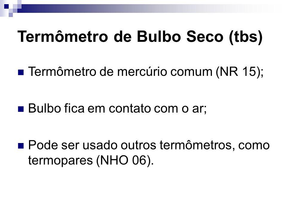 Termômetro de Bulbo Seco (tbs)