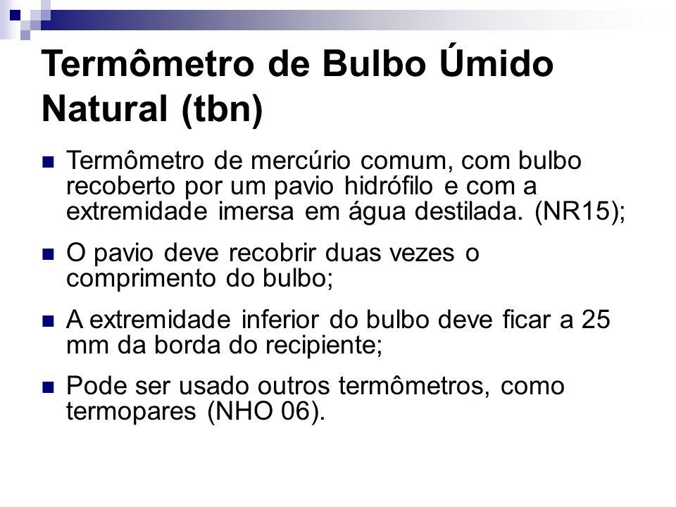 Termômetro de Bulbo Úmido Natural (tbn)