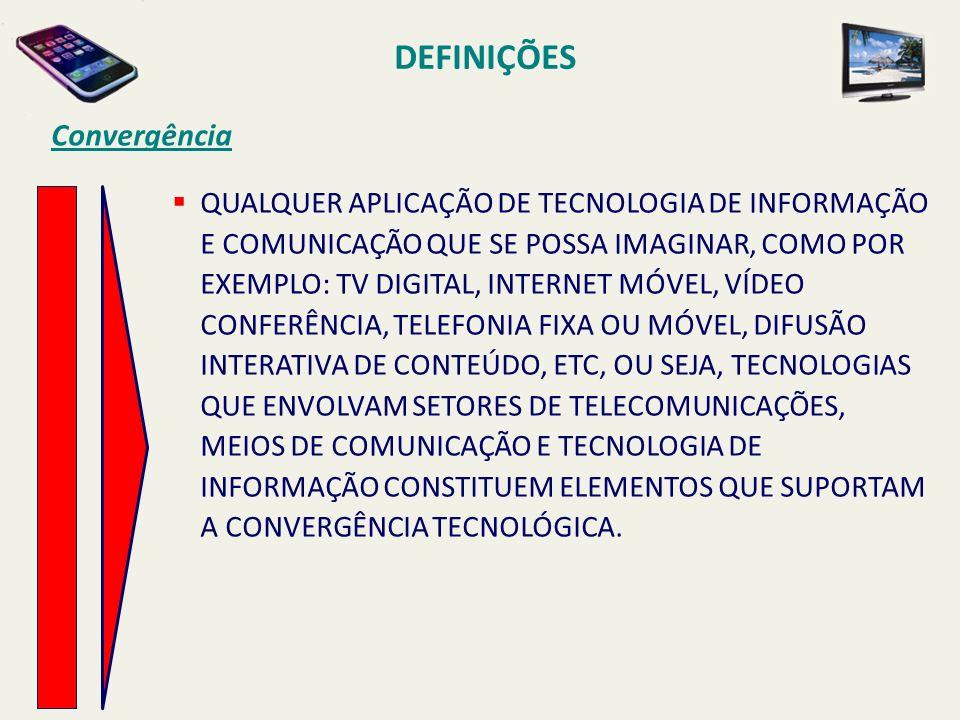 DEFINIÇÕES Convergência