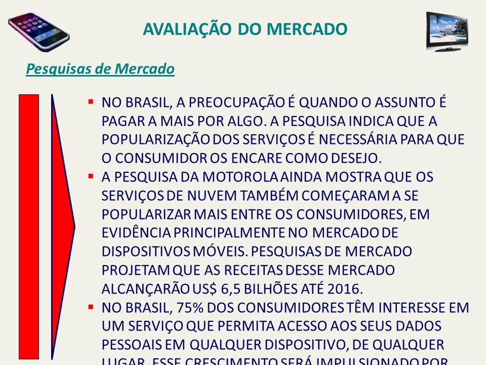 AVALIAÇÃO DO MERCADO Pesquisas de Mercado