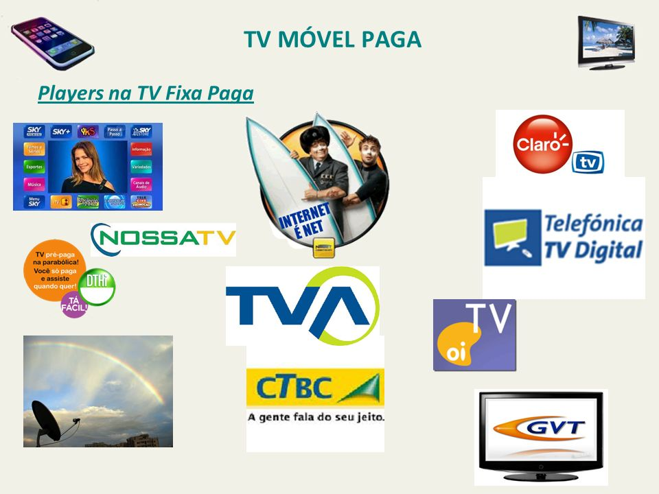 TV MÓVEL PAGA Players na TV Fixa Paga