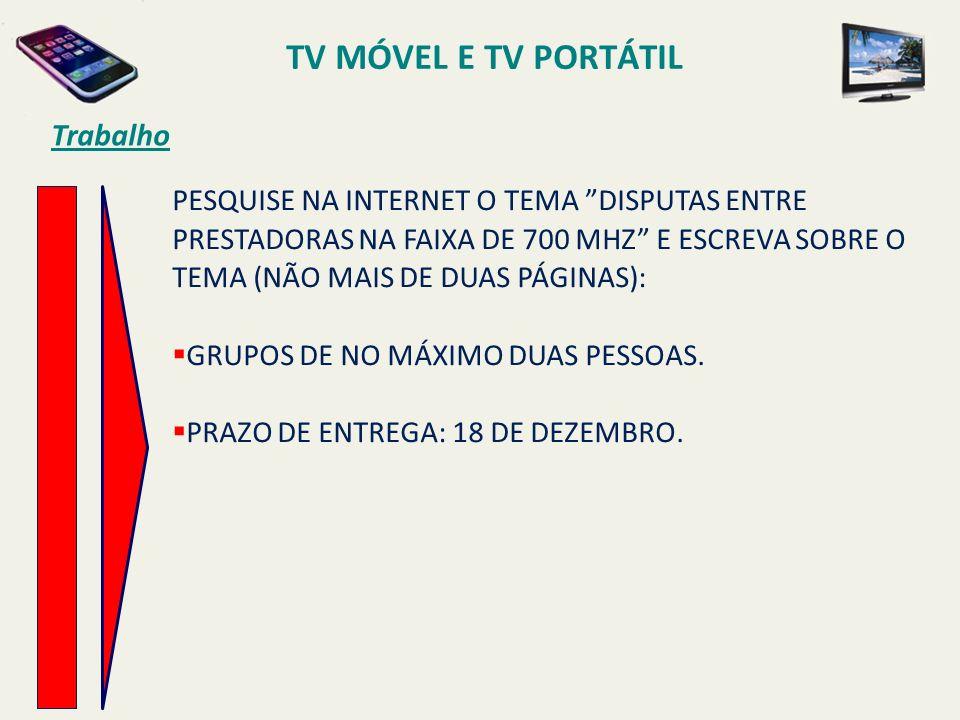 TV MÓVEL E TV PORTÁTIL Trabalho