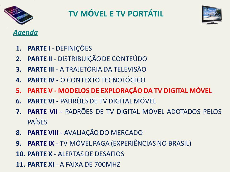 TV MÓVEL E TV PORTÁTIL Agenda PARTE I - DEFINIÇÕES