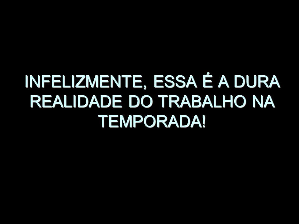 INFELIZMENTE, ESSA É A DURA REALIDADE DO TRABALHO NA TEMPORADA!