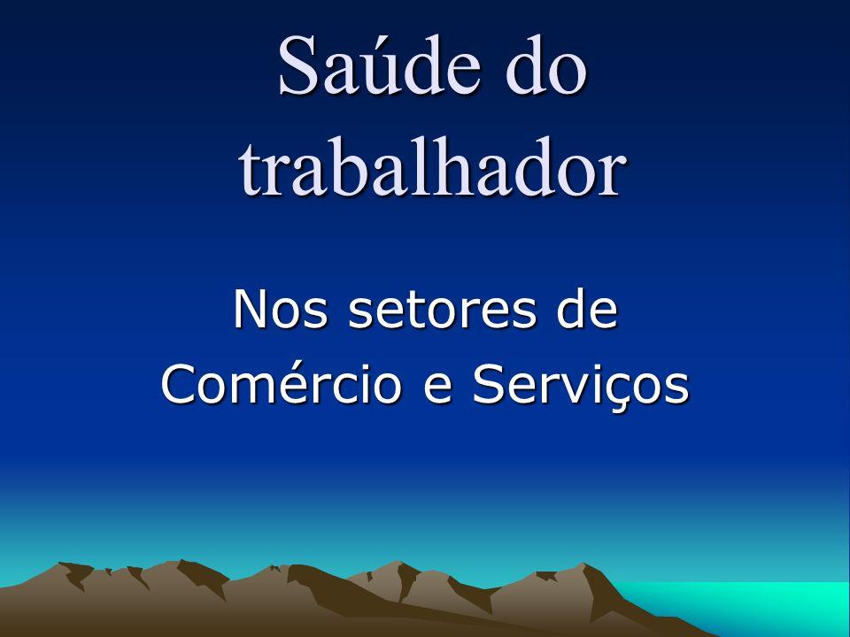 Nos setores de Comércio e Serviços