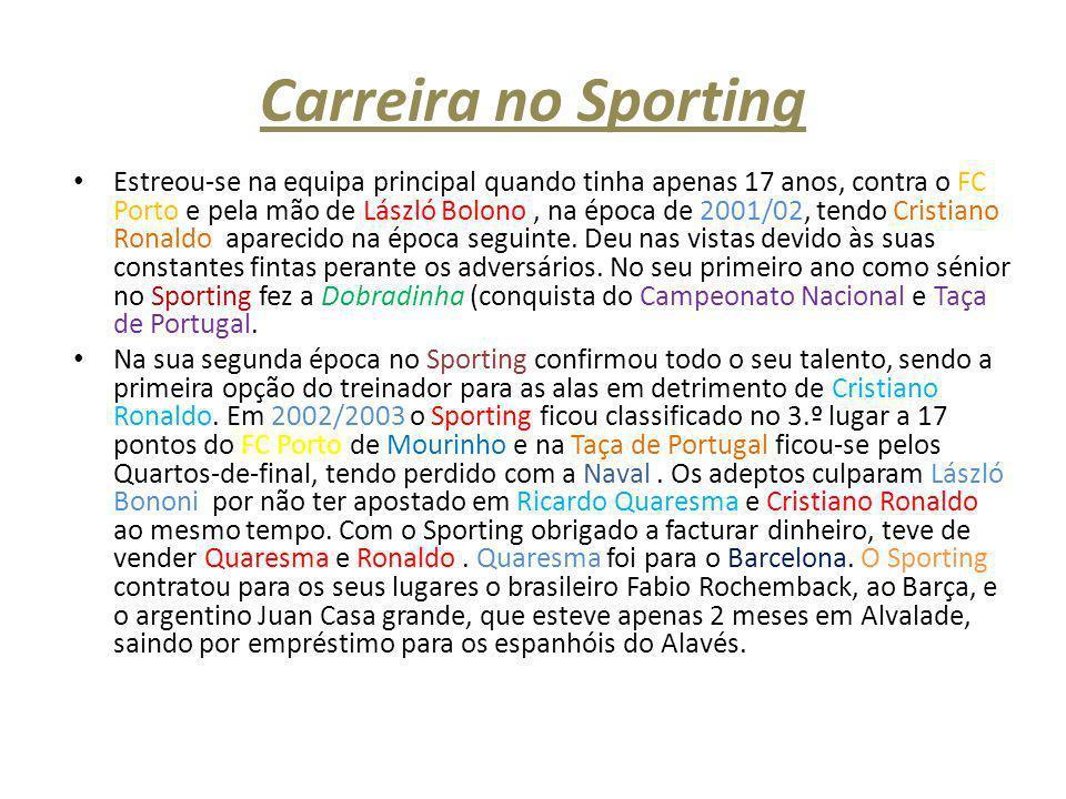 Carreira no Sporting