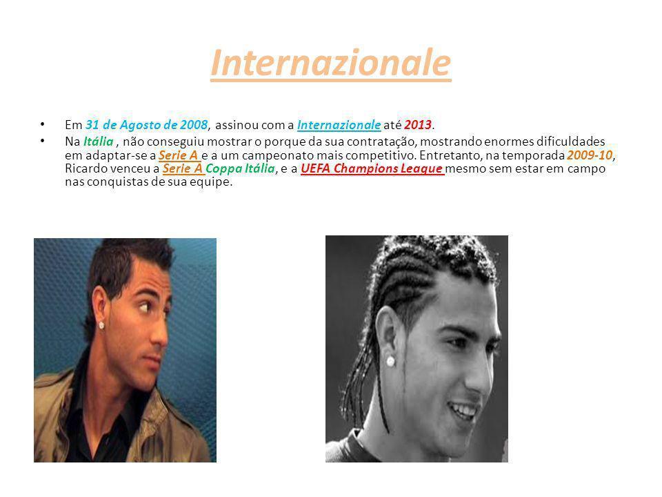 Internazionale Em 31 de Agosto de 2008, assinou com a Internazionale até 2013.