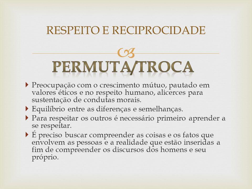 RESPEITO E RECIPROCIDADE