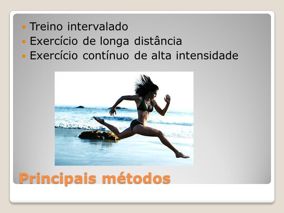 Principais métodos Treino intervalado Exercício de longa distância